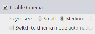 Cinema Mode Settings