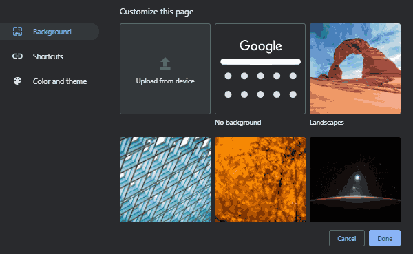 Customize Your New Tab Page Background